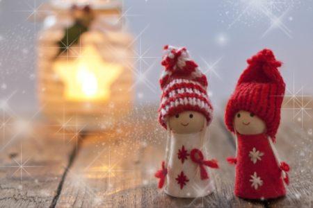 クリスマスのサンタ人形2体