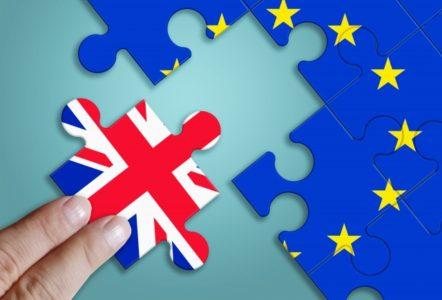 イギリスとユーロのパズルイメージ